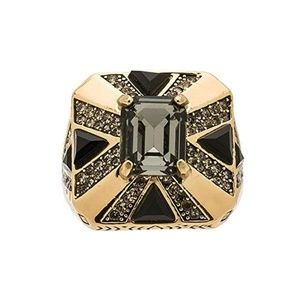 House of Harlow 1960 Square Gold Ring Size 7